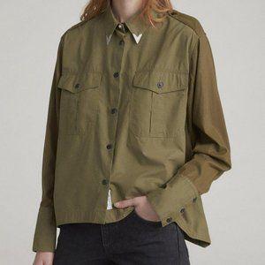 Rag & Bone Military Style Pearson Shirt Medium